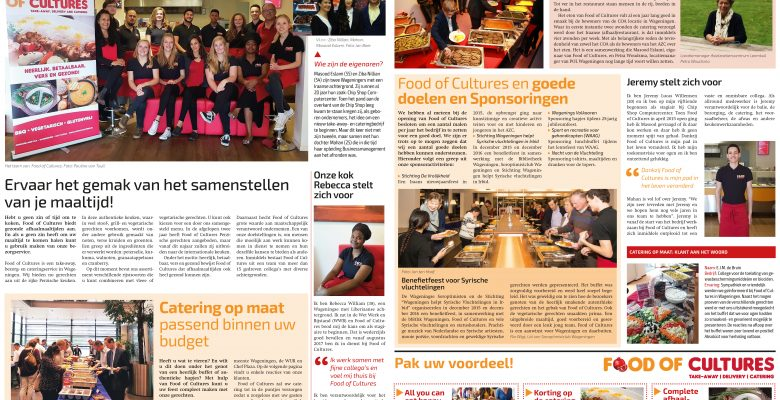 Speciale krant over Food of Cultures